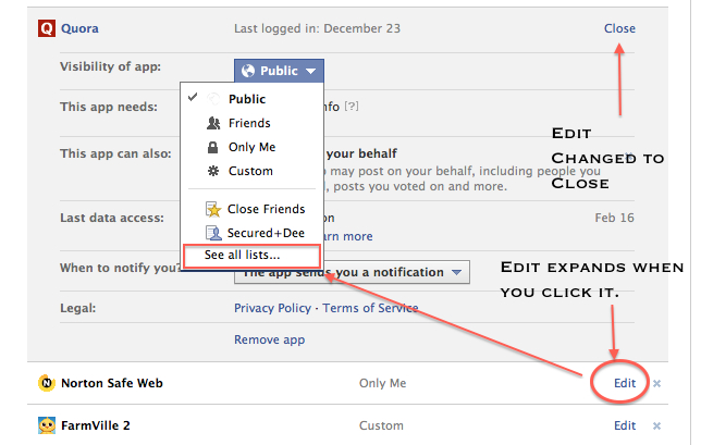 Limit Facebook Notifications