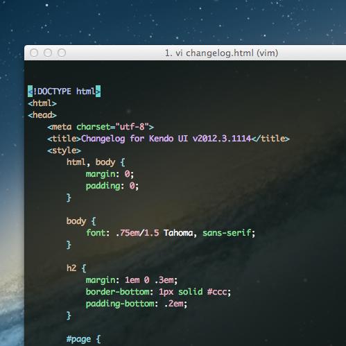 Syntax Highlighting in Vim inside iTerm2