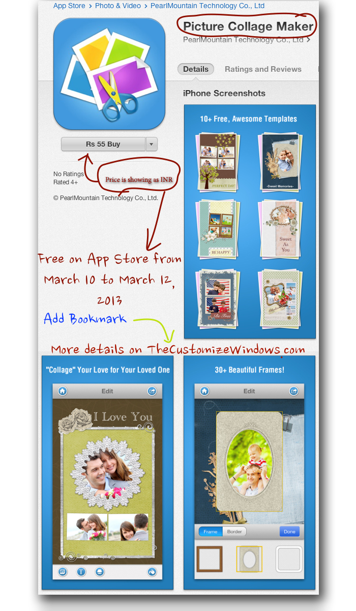 Get] iOS App Picture Collage Maker Giveaway with Lot of Free