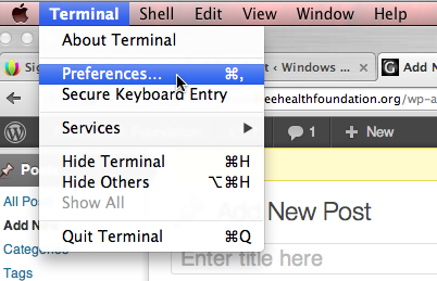 OS X Terminal Transparency, Themes and Syntax Highlighting