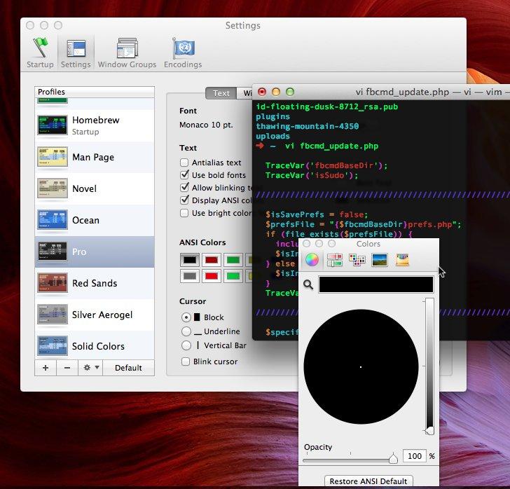 OS X Terminal Transparency