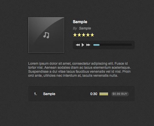 web music player demo