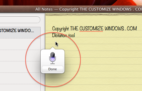 Dictation OS X Mac