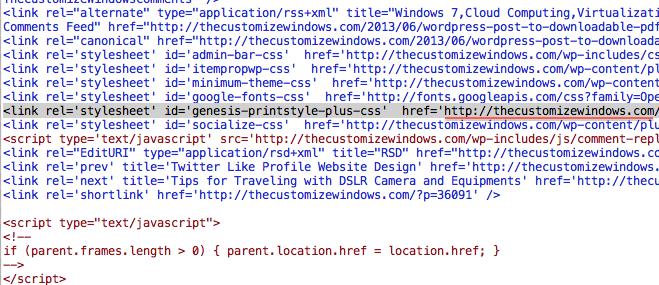 Add a Print Button in Genesis Powered WordPress Website
