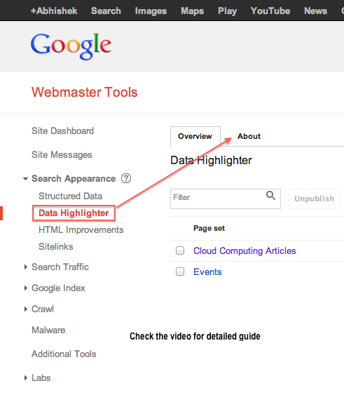 How to Use Google Data Highlighter and Other Points