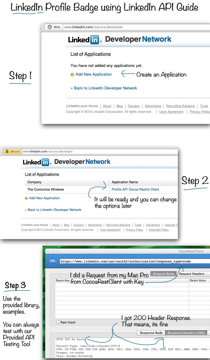 LinkedIn-Profile-Badge-using-LinkedIn-API-Guide