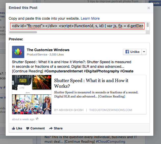 Facebook Embedded Posts for WordPress Guide