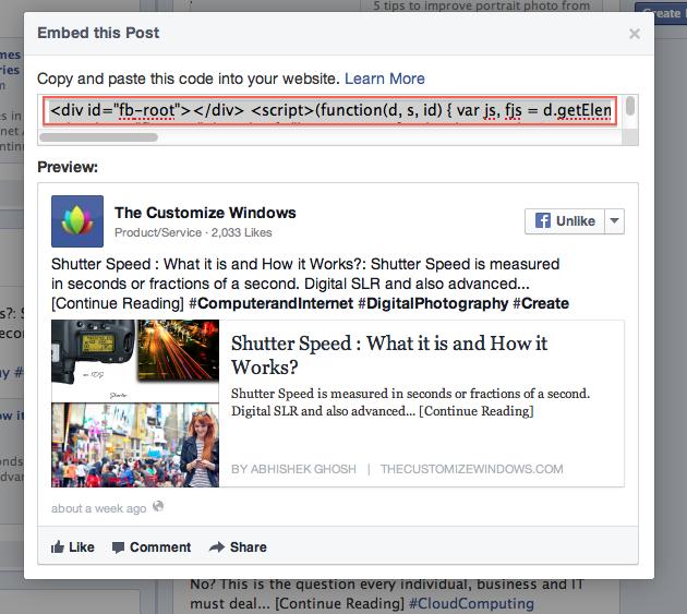 Facebook Embedded Posts for WordPress Guide