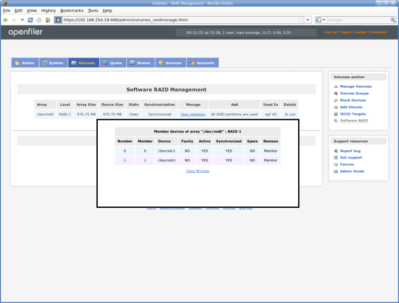 Unified Centralized Management of Data with Openfiler