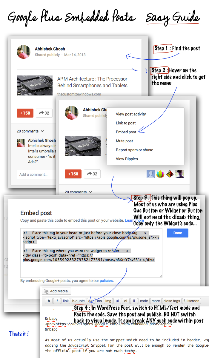 Google+ Embedded Posts