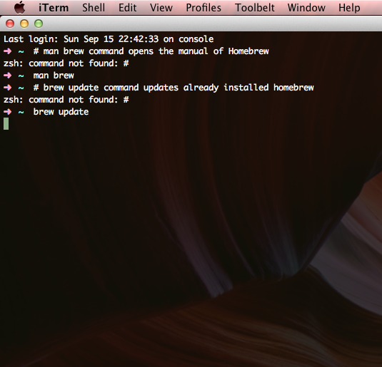 Homebrew Package Manager and OSX