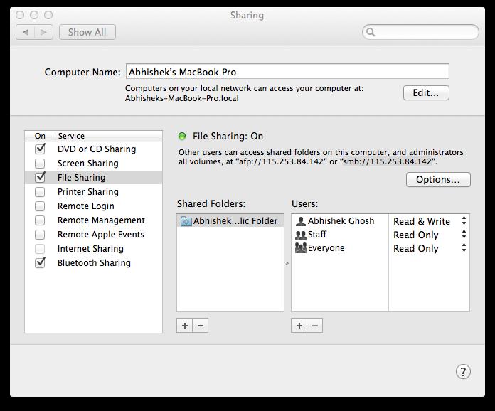 OS X localhost