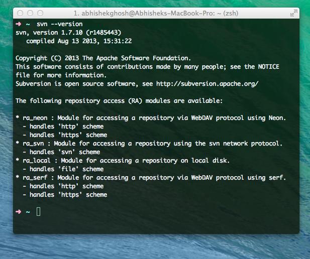 OS X SVN Client Softwares