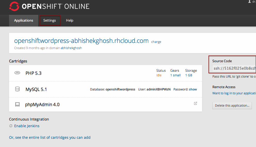 WordPress Development With RedHat OpenShift Free PaaS
