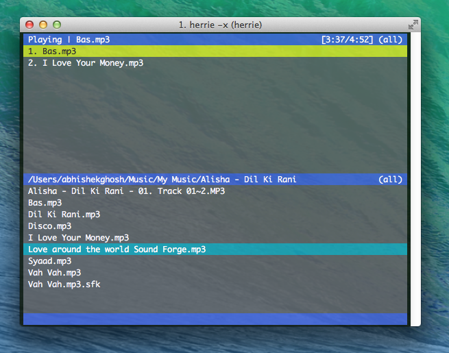 Command Line MP3 players for OS X