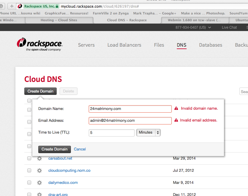 DNS Setup for Rackspace Cloud Sites to Cloud Server Migration