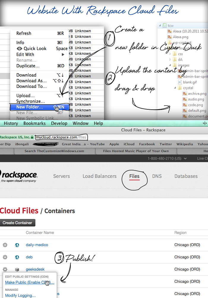 How To Use Rackspace Cloud Files To Serve WordPress WebPages