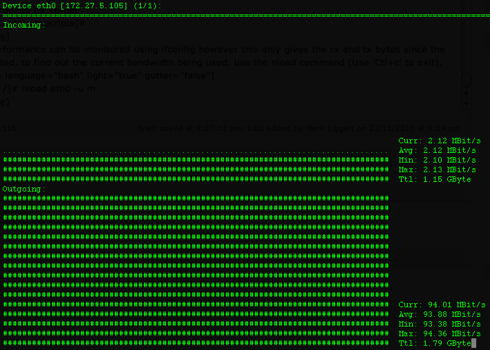 Monitor Network Traffic,Bandwidth Usage on CLI In Real Time with nload