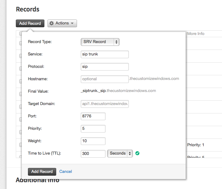 SRV Record Basics