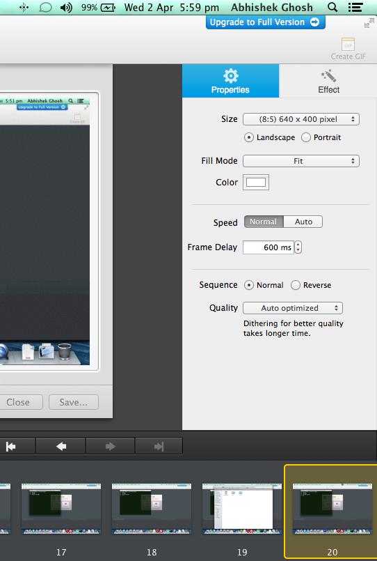 PicGIF Lite for OS X to Convert Videos into GIFs