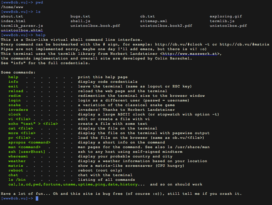 Web Based Online Terminal Emulators