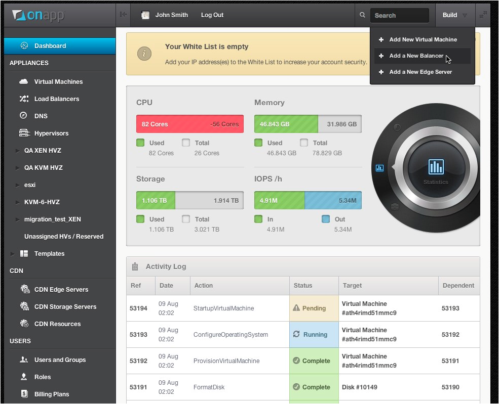 OnApp Centralized Cloud Management Tool