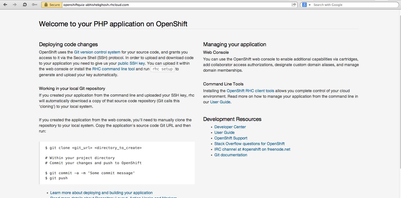 Facebook App OpenShift