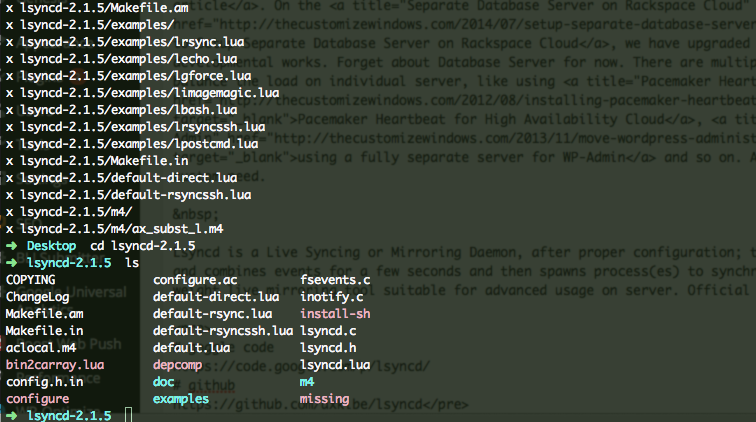 Lsyncd Examples of Syncing With Cloud Server Local Host