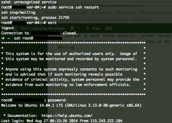 SSH message before before authorization till providing the password