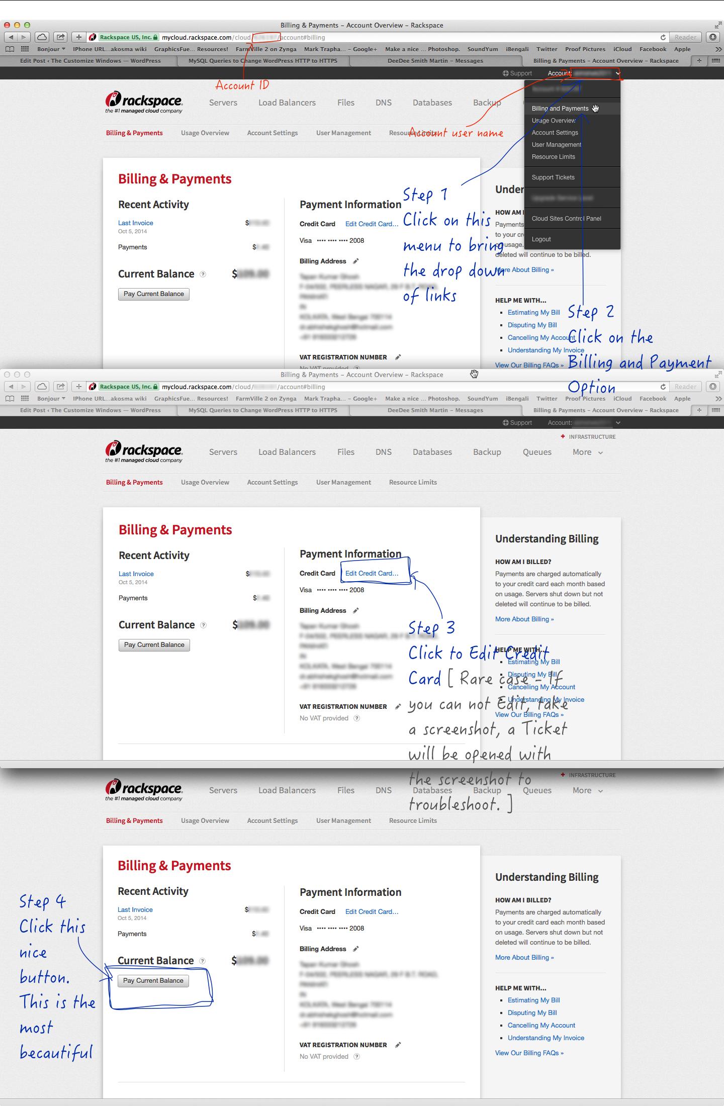 Managing Rackspace Cloud Account Billing