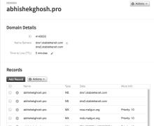 DNS Settings For Custom Domain For GitHub