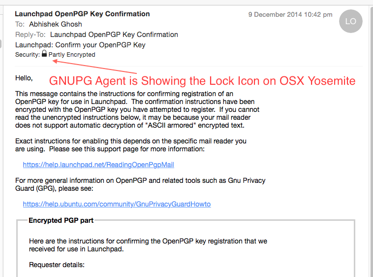 GNUPG OS X Mail