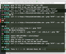 grep, cut Examples with unix pipe
