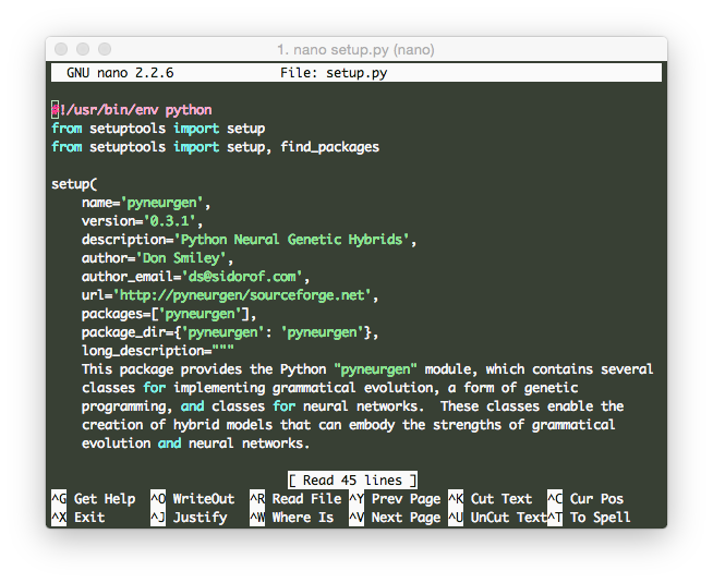 OS X Nano Syntax Highlighting