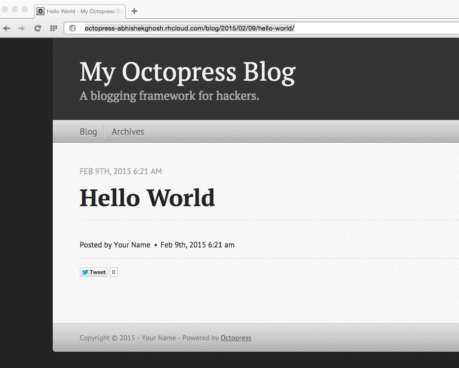 OpenShift OctoPress Auto install Script