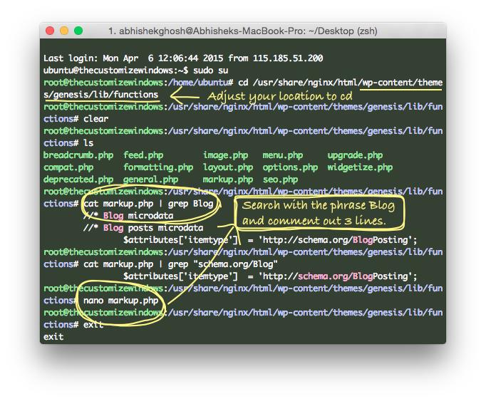 Fix WordPress mainContentOfPage Schema Error (Genesis)