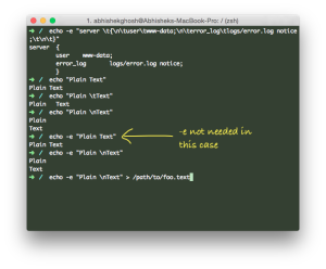 echo Command - Practical Examples For SSH