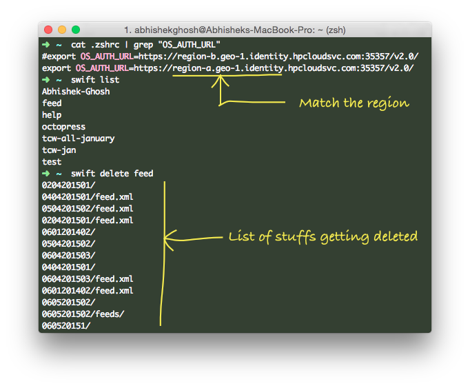 Empty a Swift Container CDN (HP Cloud)
