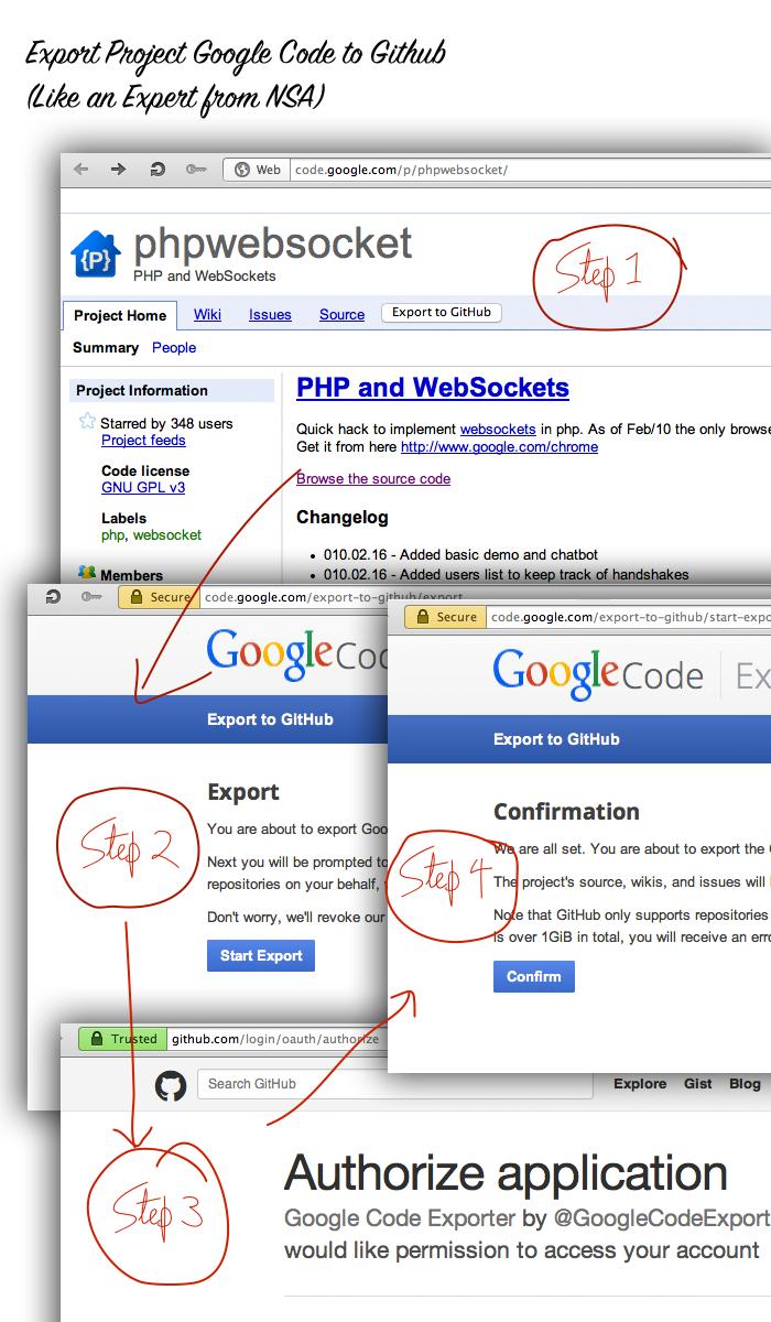 Export Project Google Code to Github