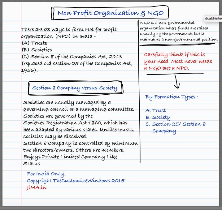 Non Profit Company & NGO Basics to Start