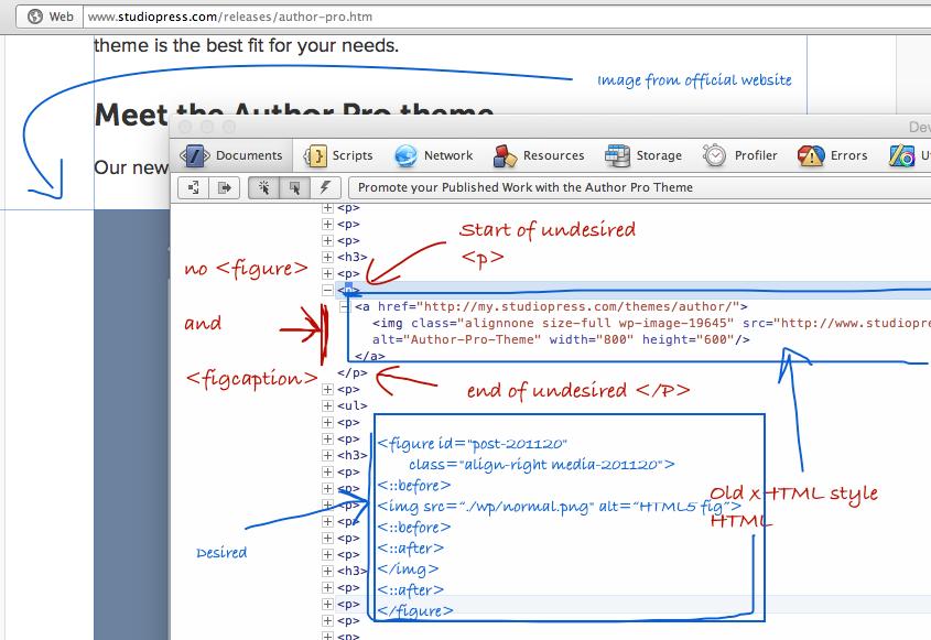 Remove p Wrap Around Post Images in WordPress Genesis