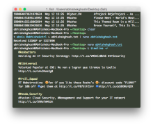 Setup of Twitter Command Line Tool t on OS X