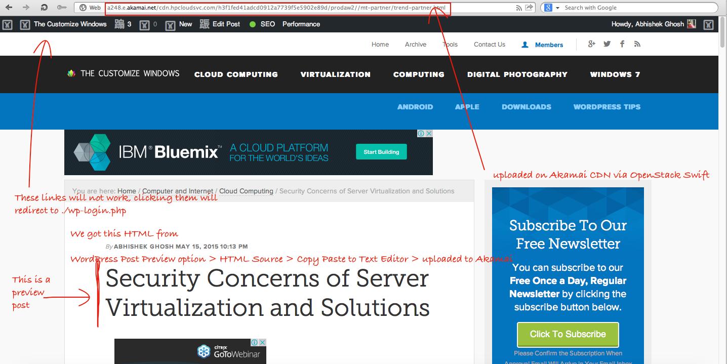 Share WordPress Post Preview Via Cloud Storage