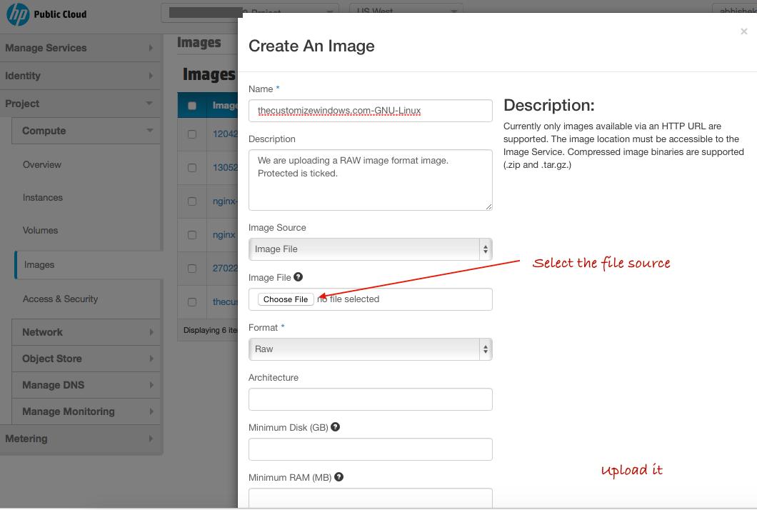 Run Custom Operating System on HP Public Cloud