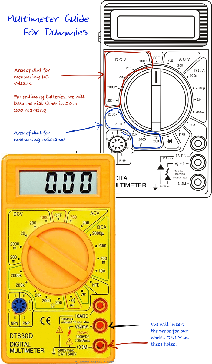 Multimeter Guide For Dummies Ac Circuit