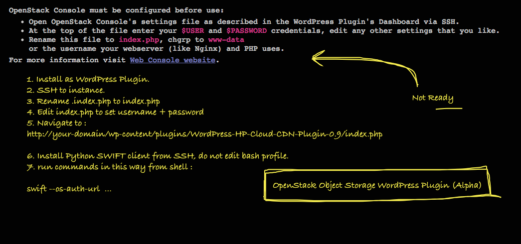 OpenStack Object Storage WordPress Plugin (Alpha)