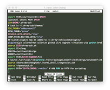 .nanorc File For OS X iTerm2 .zshrc