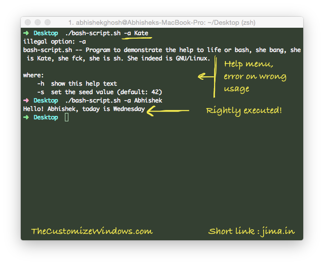 Adding Help & Option in Bash Script