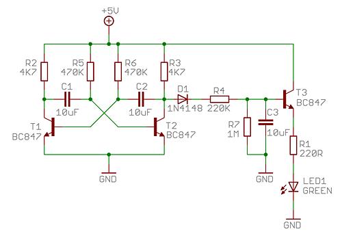 Breathing LED Circuit