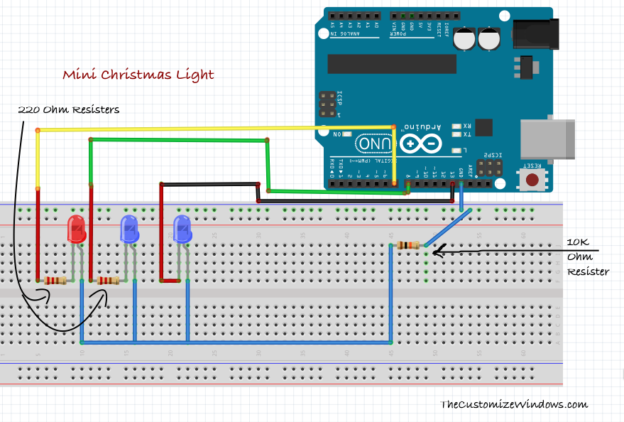 mini christmas light with arduino very easy. Black Bedroom Furniture Sets. Home Design Ideas